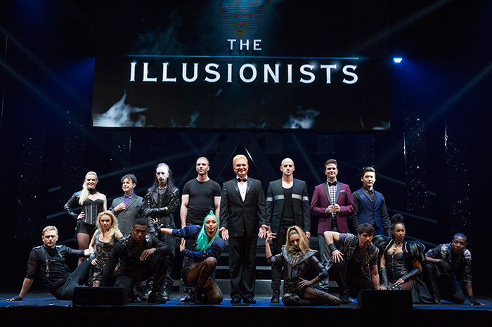 The Cast of The Illusionists-Live on Broadway at the Neil Simon Theatre(250 W. 52nd Street) © Joan Marcus, 2015