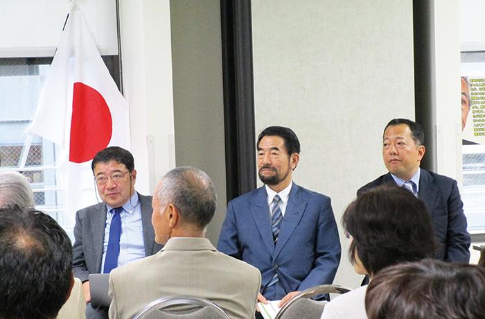 今回の講演を行った3講師。(左から)西岡力氏、髙橋史朗氏、山岡鉄秀氏=8月24日、ニューヨーク