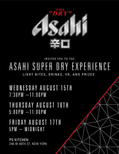 ASAHI SUPER DRY EXPERIENCE