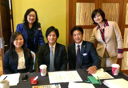 倫理経営トップセミナーで。右から2番目が佐藤昭さん